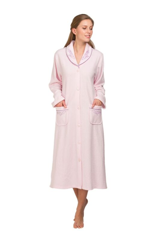 Ladies Terry fleece Dressing Gown 67414
