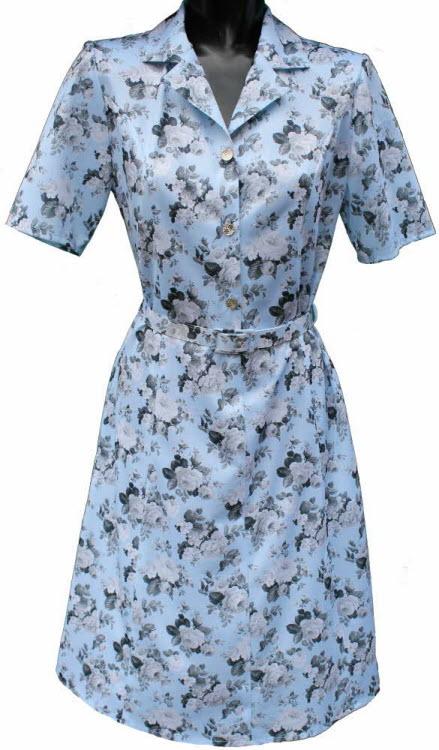 sleeve dress by rival sky blue pattern