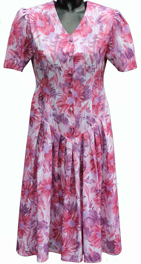 Ladies Drop Waist Dress By Rival Pink Daisy Print 41 Quot