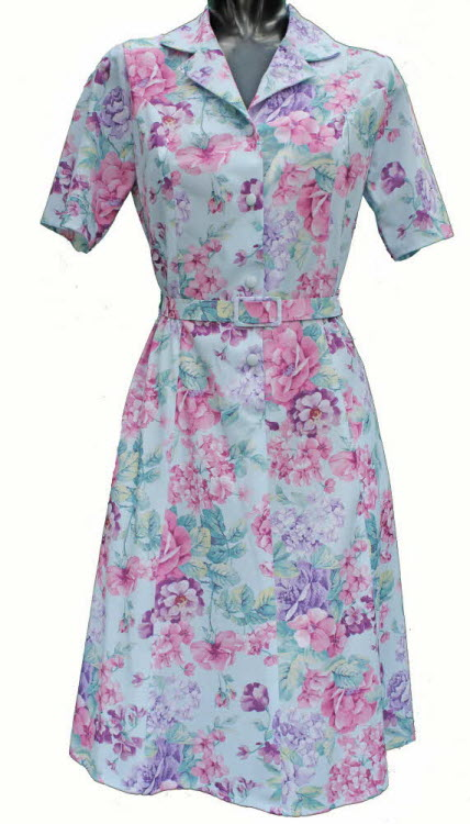 Short Sleeve Dress By Rival Sky Blue With Pink And Lilac